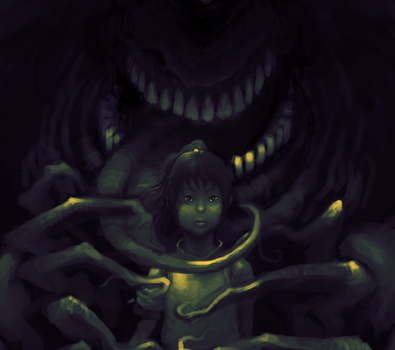 SPIRITED AWAY WIP by awfulowafalo
