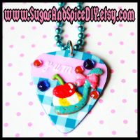 Cherry Scoop Guitar Pick by SugarAndSpiceDIY