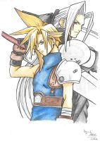Cloud Y Sephiroth by lulisha
