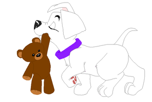 Doggie and Teddy Base by PaddysDemon