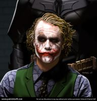 Heath Ledger as the Joker by patricktoifl