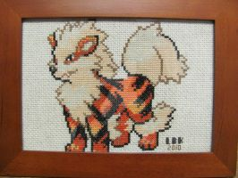 Arcanine - Pokemon CrossStitch by SyunFung
