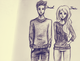 Ines and Daniel doodle. by Vriethael