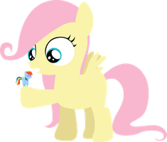 Somepony shrunk Rainbow Dash! by SundownGlisten