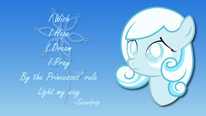 Snowdrop - I Wish - Wallpaper by TechRainbow