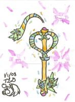 Crystal of Time - Keyblade by SilverPheonix-Dragon