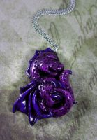 Sleepy Dragon Necklace by NeverlandJewelry