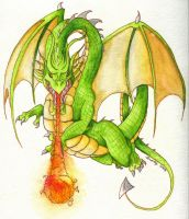 Scary Dragon by Audriana