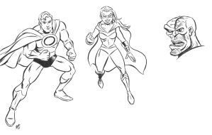 Superhero ink sketches by scootah91