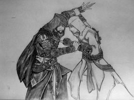 Ezio vs. Altair by DaNew-Guuy