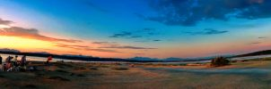 SunSetting Mountain Range by KarmeticPeace