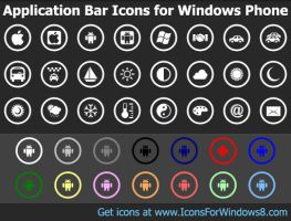 Application Bar Icons for ... by shockvideo