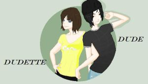 Dudette with her Dude by Unknownsushi