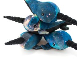 Galaxy Narwhals by BeeZee-Art