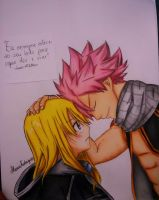 Natsu and Lucy - Fairy Tail by AlexiaRodrigues