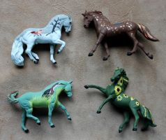 Breyer Stablemate Customs: The Four Seasons by lupagreenwolf