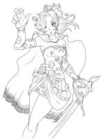 Terra Brandford (Lineart) by red-whip-genocidie