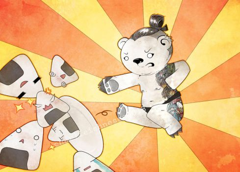 SUMO YAKUZA KARATE BEAR by Charlieishnesss