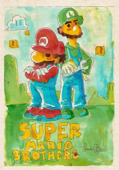Mario brothers by MIRRORMASTER