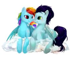 Pony Commission: Rainbow Dash + Soarin' by enigmatia