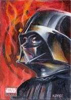 Darth Vader Sketch Card by kohse