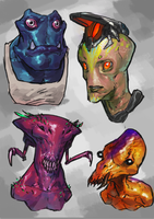 random alien portraits by MaxGrecke