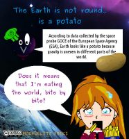 Earth is a potato by Mochuelitofriki