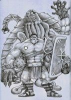 Gladiator Hulk by DVLArt