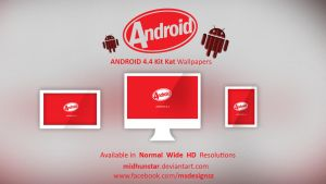 Android Kitkat wallpapers by midhunstar