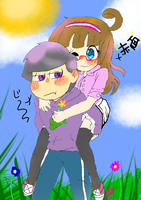 Piggy back ride by liyahpuffedsweets