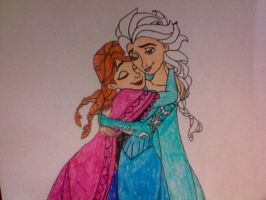 Anna and Elsa by Kailie2122