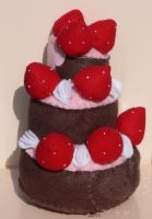 Choco Strawberry Birthday Cake by thislittlechicken