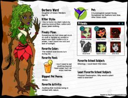 MH OC Profile: Gerbera Ward by ThestralWizard