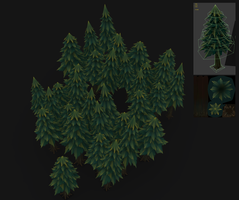 Handpainted low poly trees! by Traggey