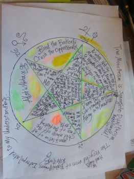 Pentacle of the GodGoddess by spiralcosmosart
