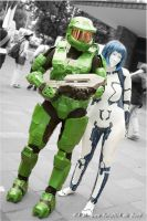 Halo - Master Chief and Cortana by TooN-Twins