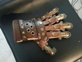 Steampunk knuckle torch by theDOC30427