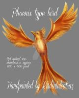 Phoenix bird psd file by Birdsatalcatraz