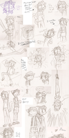 Ruby and Kenneth SketchDump by Mister-Saturn