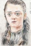 Maisie Williams as Arya Stark by PetiteHands