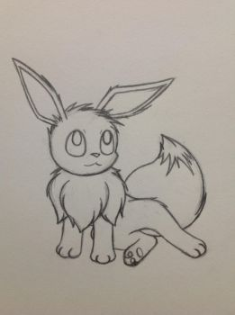 Eevee sketch - 9/30/12 by Jestloo