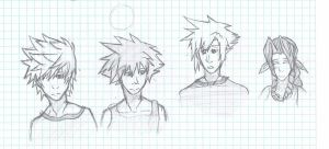 KH2+FF7: Love That Hair by KinderWulf