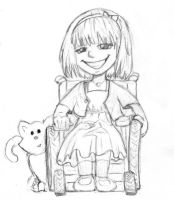 Girl in Wheelchair by Anne-O