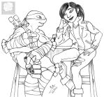 Leo and Karai at Murakami's by Violette-Aner