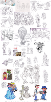 Feb 2015 sketches by Granitoons