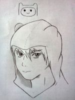 A doodle and study of Finn the Human by blue-sky-ninja