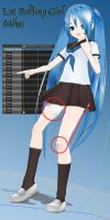 MMD Model Review: LAT Rolling-Girl Miku by Trackdancer