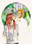 Clary and Jace by Scarlett-Winter
