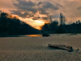 Sunset near the river by bugsbunny90