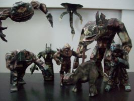 Unreal Creatures Papercraft by Metalfist0